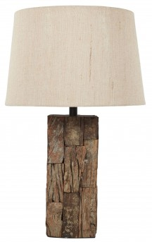 Ashley Selemah Brown Wood Table Lamp Available Online in Dallas Fort Worth Texas