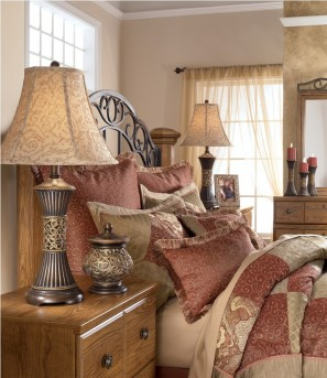 Ashley Mariana Bronze Table Lamp Set of 2 Available Online in Dallas Fort Worth Texas