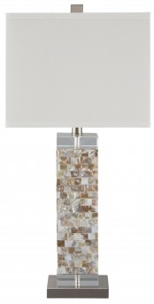 Ashley Tahira Cream Shell Table Lamp Available Online in Dallas Fort Worth Texas