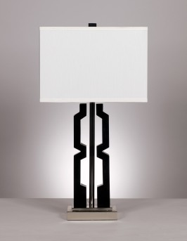 Ashley Mitzi Black & Silver Poly Table Lamp Set of 2 Available Online in Dallas Fort Worth Texas