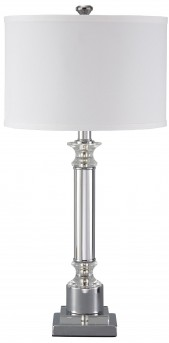 Ashley Marlon Silver Metal Table Lamp Available Online in Dallas Fort Worth Texas