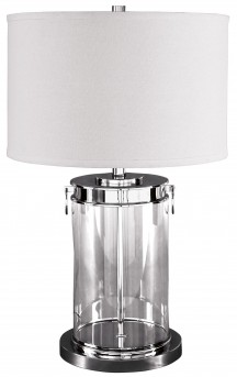 Ashley Tailynn Silver Glass Table Lamp Available Online in Dallas Fort Worth Texas