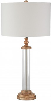 Ashley Tabby Clear and Natural Glass Table Lamp Available Online in Dallas Fort Worth Texas