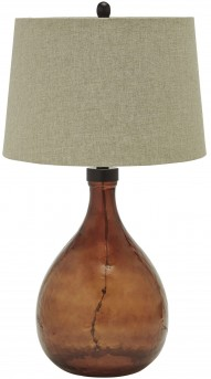 Arayna Brown Glass Table Lamp Available Online in Dallas Fort Worth Texas