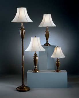 Ashley Caron Antique Brass Lamp Set of 4 Available Online in Dallas Fort Worth Texas