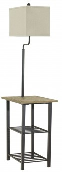 Ashley Shianne Black Metal Floor Lamp Available Online in Dallas Fort Worth Texas