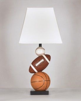 Ashley Nyx Brown & Orange Poly Table Lamp Available Online in Dallas Fort Worth Texas