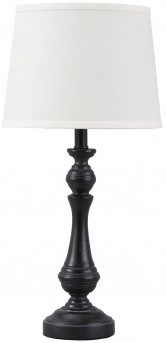 Ashley Kian Black & White Poly Table Lamp Available Online in Dallas Fort Worth Texas