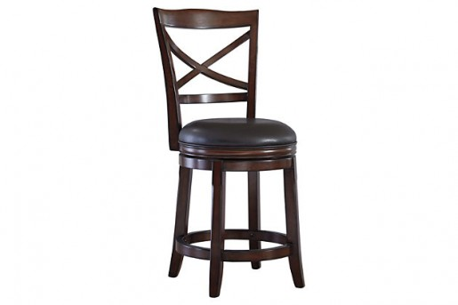 Ashley Porter Rustic Brown Counter Height Barstool Available Online in Dallas Fort Worth Texas