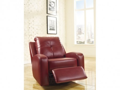Mannix DuraBlend Red Swivel Glider Recliner Available Online in Dallas Fort Worth Texas