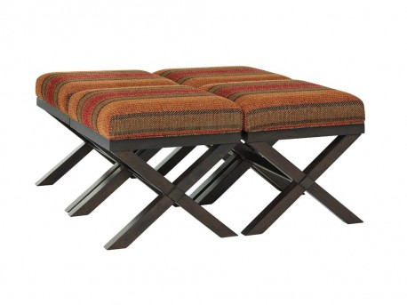 Fiera Brick Accent Ottoman Available Online in Dallas Fort Worth Texas