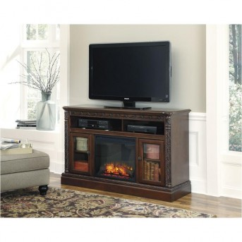Ashley North Shore TV Stand With Fireplace Available Online in Dallas Fort Worth Texas