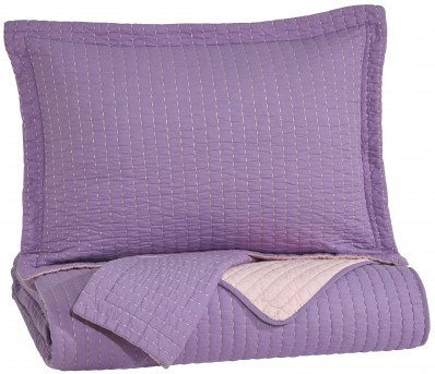Ashley Dansby Lavender and Pink Full Coverlet Set Available Online in Dallas Fort Worth Texas