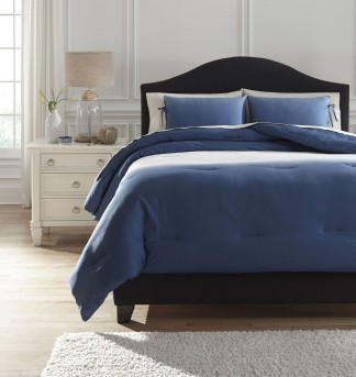Aracely Blue Queen Comforter Set Available Online in Dallas Fort Worth Texas