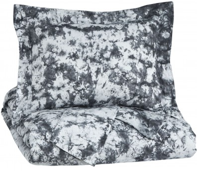 Ashley Darra Gray Queen Duvet Cover Set Available Online in Dallas Fort Worth Texas