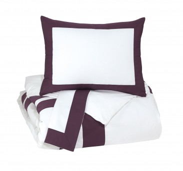 Ashley Daruka Plum King Duvet Cover Set Available Online in Dallas Fort Worth Texas