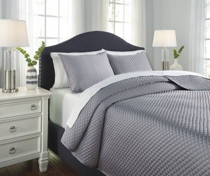 Ashley Dietrick Gray Queen Quilt Set Available Online in Dallas Fort Worth Texas