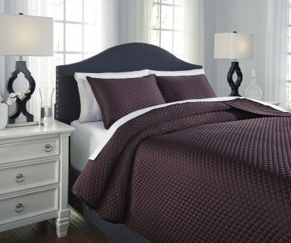 Ashley Dietrick Plum Queen Quilt Set Available Online in Dallas Fort Worth Texas