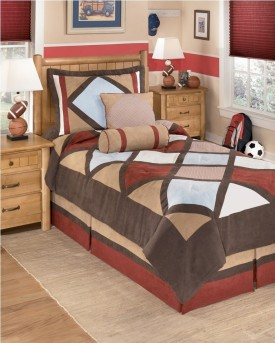 Ashley Academy Multi 5pc Twin Bedding Set Available Online in Dallas Fort Worth Texas