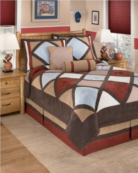 Ashley Academy Multi 6pc Full Comforter Set Available Online in Dallas Fort Worth Texas