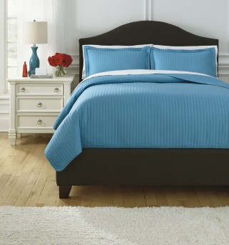 Ashley Raleda Turquoise Queen Coverlet Set Available Online in Dallas Fort Worth Texas