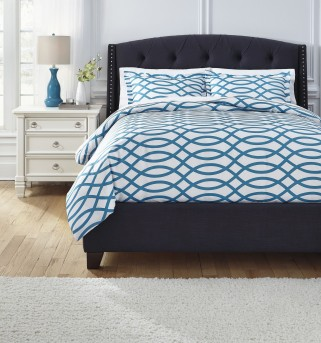 Ashley Leander Turquoise Queen Duvet Cover Set Available Online in Dallas Fort Worth Texas