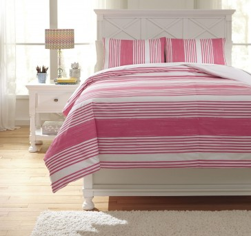Ashley Taries Pink Full Duvet Cover Set Available Online in Dallas Fort Worth Texas