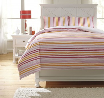 Ashley Genista Multi Twin Duvet Cover Set Available Online in Dallas Fort Worth Texas