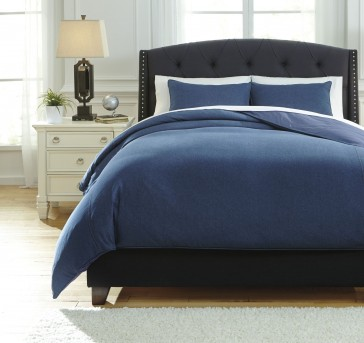 Ashley Sensu Blue Queen Duvet Cover Set Available Online in Dallas Fort Worth Texas