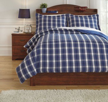Ashley Baret Blue Twin Duvet Cover Set Available Online in Dallas Fort Worth Texas