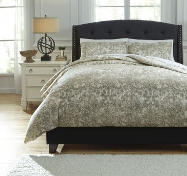 Ashley Kelby Natural King Duvet Cover Set Available Online in Dallas Fort Worth Texas