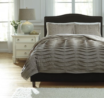 Ashley Voltos Dark Brown King Duvet Cover Set Available Online in Dallas Fort Worth Texas