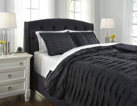 Ashley Voltos Charcoal Queen Duvet Cover Set Available Online in Dallas Fort Worth Texas