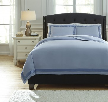 Ashley Farday Soft Blue Queen Duvet Cover Set Available Online in Dallas Fort Worth Texas