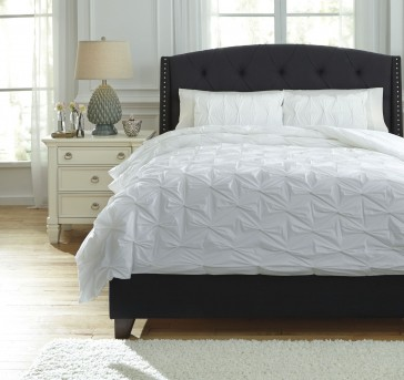 Ashley Rimy White King Comforter Set Available Online in Dallas Fort Worth Texas