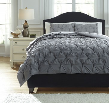 Ashley Rimy Gray Queen Comforter Set Available Online in Dallas Fort Worth Texas