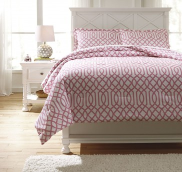 Ashley Loomis Pink Twin Comforter Set Available Online in Dallas Fort Worth Texas