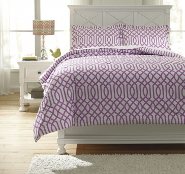 Ashley Loomis Lavender Twin Comforter Set Available Online in Dallas Fort Worth Texas