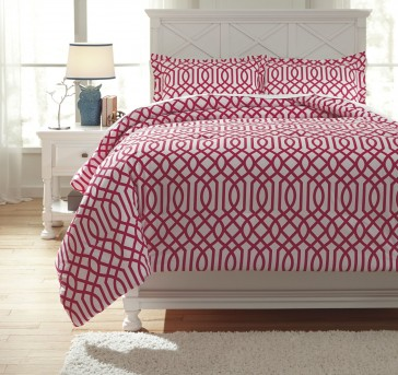 Ashley Loomis Fuchsia Twin Comforter Set Available Online in Dallas Fort Worth Texas