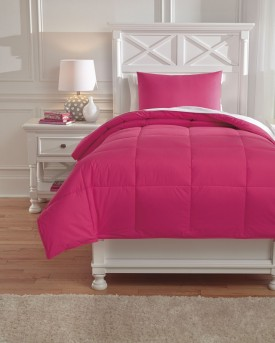 Ashley Plainfield Magenta Twin Comforter Set Available Online in Dallas Fort Worth Texas