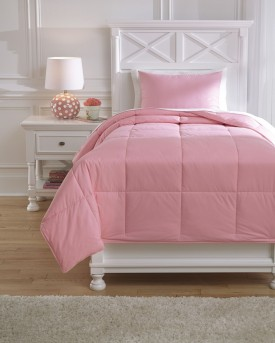 Ashley Plainfield Pink Twin Comforter Set Available Online in Dallas Fort Worth Texas
