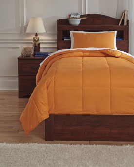Ashley Plainfield Orange Twin Comforter Set Available Online in Dallas Fort Worth Texas