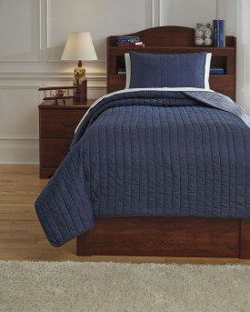 Ashley Capella Denim Twin Quilt Set Available Online in Dallas Fort Worth Texas