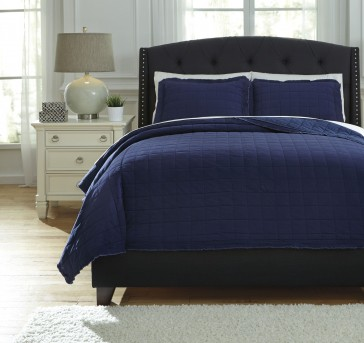 Ashley Amare Navy Queen Coverlet Set Available Online in Dallas Fort Worth Texas