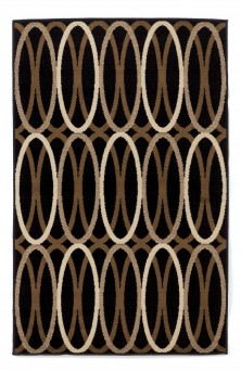 Ashley Kyle Black/Brown Medium Rug Available Online in Dallas Fort Worth Texas