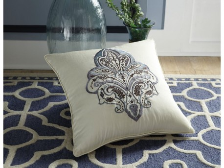 Ashley Mykel Cream/Blue Pillow Available Online in Dallas Fort Worth Texas