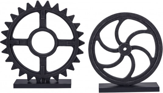 Ashley Dermot Antique Black Sculpture Set of 2 Available Online in Dallas Fort Worth Texas