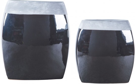 Ashley Derring Black and Nickel Vase Set of 2 Available Online in Dallas Fort Worth Texas
