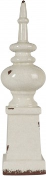Ashley Diem Antique White Finial Available Online in Dallas Fort Worth Texas