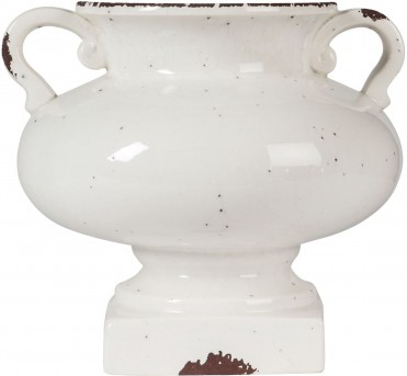 Ashley Dierdra Small Antique White Vase Available Online in Dallas Fort Worth Texas